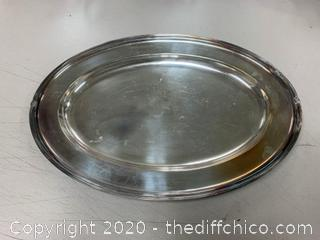 Silver Serving Tray (J142)