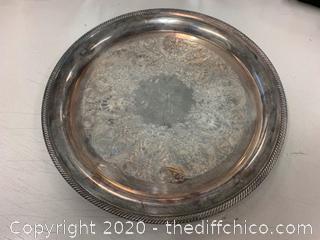 Castleton Silver Serving Platter (J145)