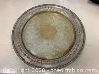 Silver Serving Platter (J146)