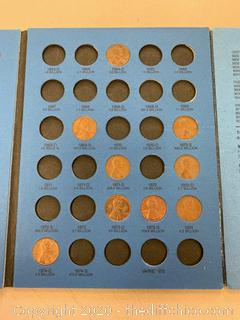 Whitman Coin Folder - Lincoln Cents - Some Pennies (J159)