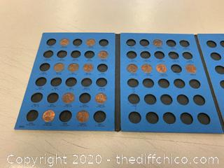 Whitman Coin Folder - Lincoln Cents - Some Pennies (J160)