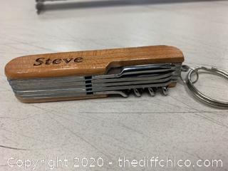 Wooden Palms Springs Multi-Tool - Engraved Steve (J170)