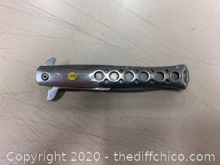 Tac-Force Chrome Folding Knife (J258)