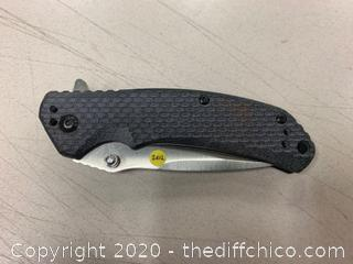 Black Folding Knife (J262)