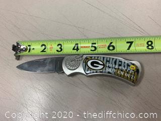 Green Bay Packers Folding Knife (J266)