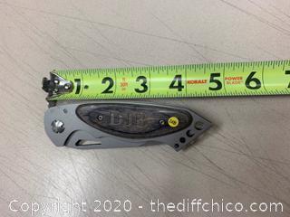 Wooden Handle Folding Knife (J268)