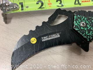 Tac-Force Black/Green Folding Pocket Knife (J275)