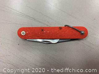 Camillus Red Folding Pocket Knife (J280)