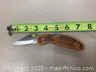 Brown Folding Pocket Knife (J281)