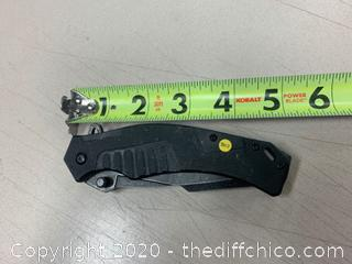 Black USMC Folding Knife (J307)