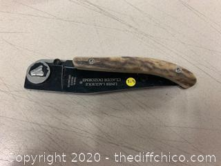 Liner Laguile Claude Dozorme Folding Pocket Knife (J313)