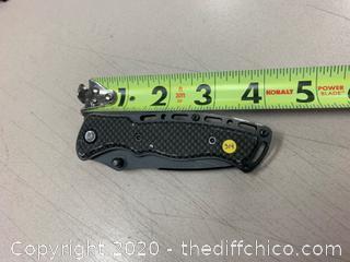 Black Carbon Finish Folding Pocket Knife (J314)