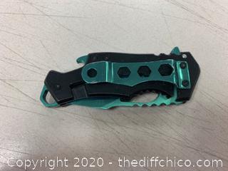MTech Black/Green Folding Pocket Knife (J316)