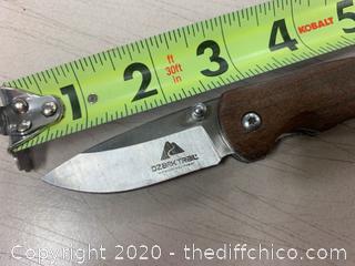 Wood Handle Folding Pocket Knife (J320)