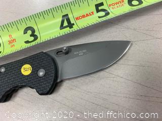 Black Folding Pocket Knife (J329)