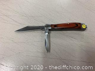 Wood Handle Folding Pocket Knife (J332)