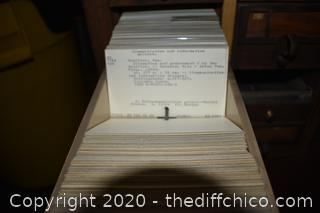 Vintage Wood Library Card Organizer