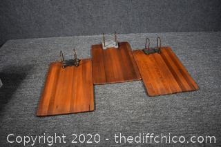 3 Vintage Wood Order Boards