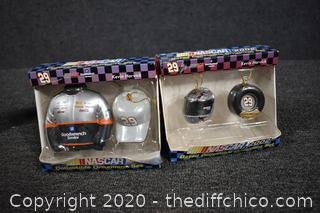 2 NIB Collectible Nascar Ornaments