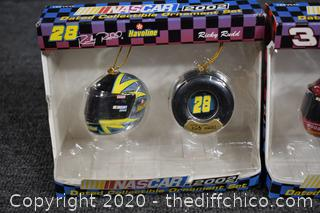 2 NIB Collectible Nascar Ornaments
