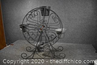 Metal Merry Go Round Plant Stand