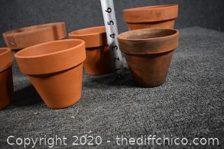 6 Terra Cotta Pots