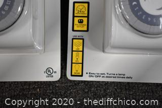 2 NIB Indoor Big Button Timer
