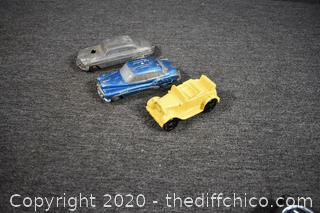 3 Vintage Saving Bank Cars