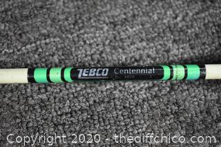61in long Zebco Fishing Rod and Zebco Reel