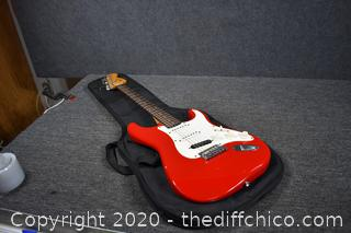 Red Squire Guitar by Fender