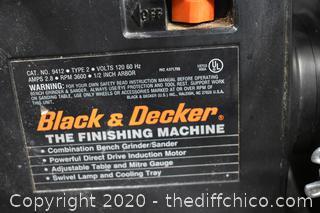 Working Black and Decker Finishing Machine