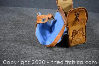 Hand Made Leather Saddle Shoulder Purse