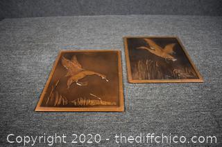 2 Pieces of Copper Art