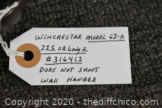 Winchester Model 62-A Gun-does not shoot