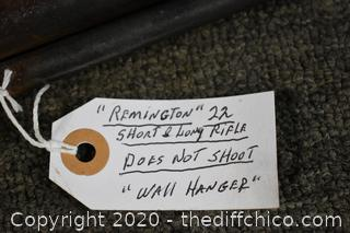 Remington 22 - does not shoot