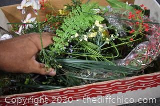 Lot of Artificial Flowers