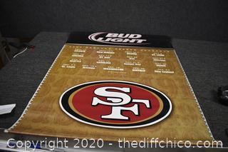 SF Bud Light Banner 39in x 30in