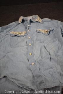 Denim Shirt - size M