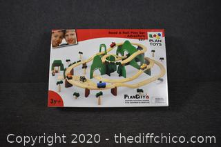 PlanCity Road and Rail Play Set w/table