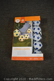 NIB Soccer String of Lights