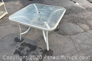 Patio Glass Top Table