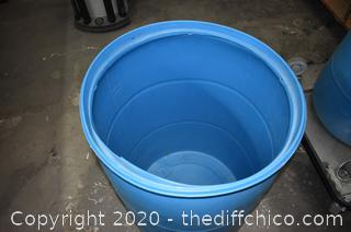 Blue Barrel - 24in dia x 35in