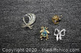 4 Vintage Pins
