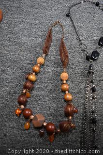 3 Costume Jewelry Necklace