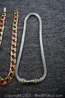4 Costume Jewelry Necklace