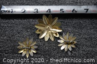 Sarah Coventry Earrings and Pin