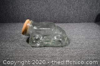 Volkswagon Bug Glass Jar