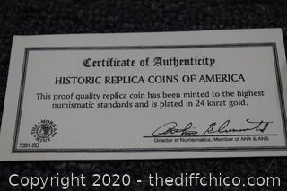 Replica Coin of America