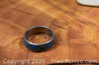 Silver and Turquoise Ring Size 7