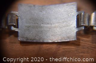 Sterling Silver and Enamel Bracelet